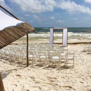 The wedding setup at Ahau