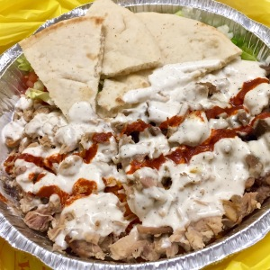 Chicken & Gyro plate @ Halal Guys
