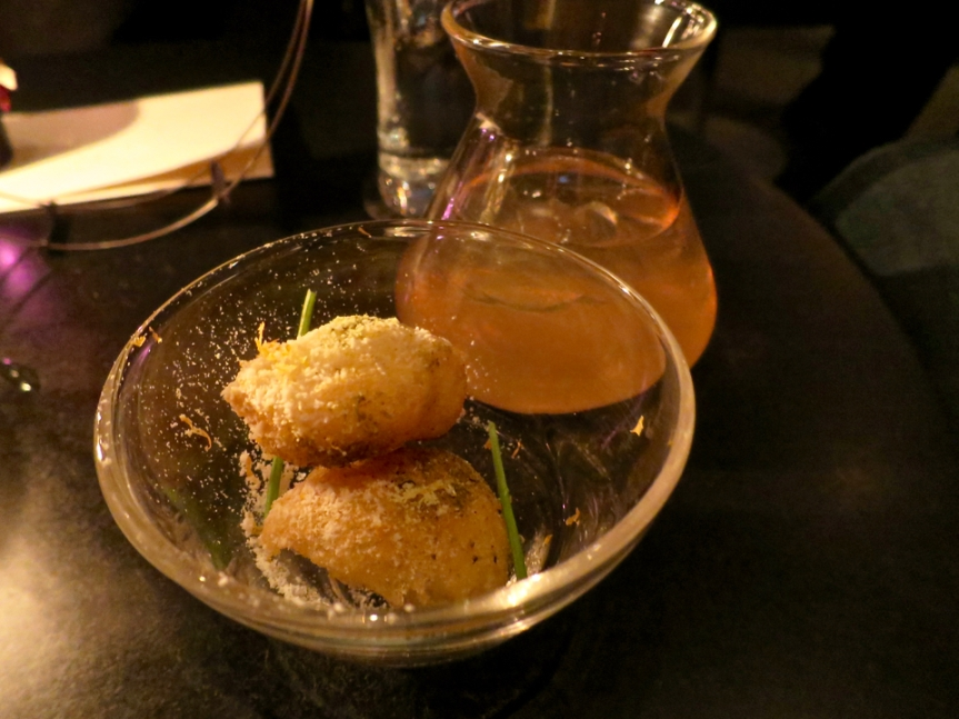O'Doyle Rules - Fried banana, clarified banana, curry, rum, cognac