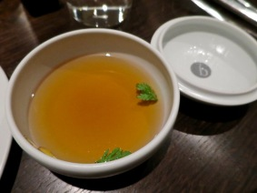 #17 beef broth - Benu, SF, Oct 2016