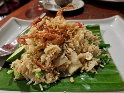 Saffron Restaurant - Soft shell crab fried rice - the best of the dishes we tried